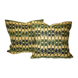 Ikat Pillows, Pair