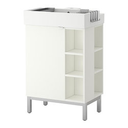 Inma Bermudez/IKEA of Sweden - LILLÅNGEN SinK cabinet/1 door/2 end units - SinK cabinet/1 door/2 end units, white