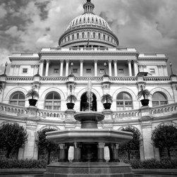 "US Capitol Fountain, Washington DC 12"" X 16"" Print - US Capitol Fountain, Washington DC"
