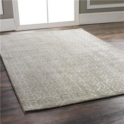 Luxurious Formal Geometric Fretwork Rug, Taupe/Mushroom - I love how easily this rug would fit into virtually any room, no matter the color of your favorite throws, pillows and decor.