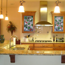 Asian Kitchen by Designer Glass Mosaics