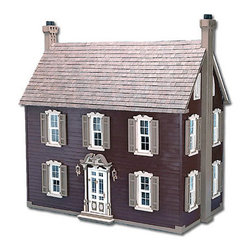 "Greenleaf Dollhouses - Willow Dollhouse Kit - For even more choices in dollhouses, be sure to check out Greenleaf's Dollhouse of affordable all wood dollhouse kits! We can custom build your dream dollhouse. They are wonderful little houses for the new collector. Features: -Dollhouses collection. -Has six spacious rooms on three floors. -Entirely open in the back. -Has a first floor fireplace centered between two built-in bookcases. -Master bedroom features a fireplace and shutters to compliment the 18th century architecture. -Include the ornate front door, gracious stairway and double hung windows. Specifications: -Material: Wood. -Overall dimensions: 31"" H x 31"" W x 18"" D."
