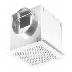 Broan - 277CFM Ceiling Mount Ventilator - 277 CFM ceiling mount ventilator can be ducted horizontally or vertically