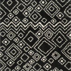 """Safavieh - Safavieh Belize Shag SGB488C 5'1"""" x 7'6"""" Charcoal, Ivory Rug - This Power Loomed area rug would make a great addition to any room in the house. The plush feel and durability of this area rug will make it a must for your home."""