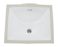 "TCS Home Supplies - Rectangular White Porcelain Ceramic Vanity Undermount Bathroom Vessel Sink - Undermount Bathroom Vessel Sink. Rectangular Shape.  Porcelain Ceramic. Overall Dimensions 21-1/2 x 18-1/4 x 7-1/8""."