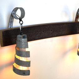 Wine Barrel Ring Lighting - Vanity - Wine Barrel Pendant Light Vanity