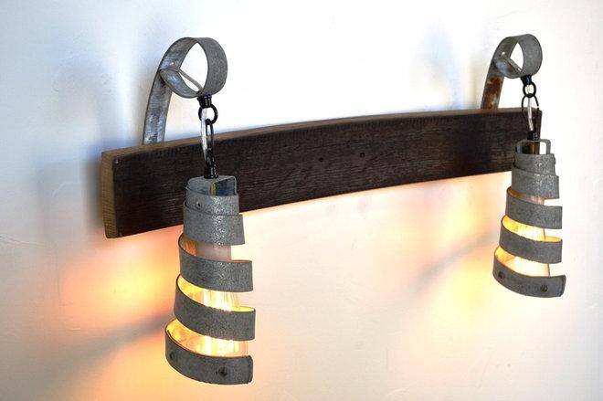 Industrial Bathroom Lighting And Vanity Lighting by Wine Country Craftsman