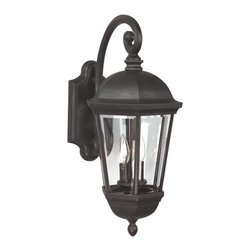Exteriors - Exteriors Britannia Traditional Outdoor Wall Sconce - Large X-29-4203Z - You can't go wrong when decorating with this large Craftmade Britannia Traditional Outdoor Wall Sconce. If features a frame in a rich and warm oiled bronze finish and clear beveled glass panels. It's a wonderful piece to have in most any outdoor space that's sure to bring elegance and beauty to your home.