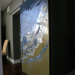 Custom Art sliding door - Paula A. Wright