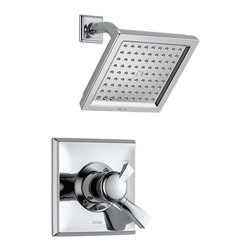 Delta Monitor(R) 17 Series Shower Trim - T17251 - The clean lines and dramatic geometric forms of the Dryden Bath Collection are based on style cues from the Art Deco period.