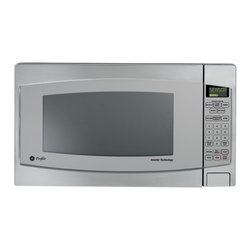 GE - GE Profile JES2251SJ Countertop Microwave Oven - Reheat and create delicious meals with this Profile turn table countertop microwave by GE. Crafted with a sleek stainless steel finish,this modern microwave features multiple sensor cooking controls to ensure even and precise cooking.