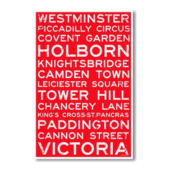 PosterEnvy - London, England Signs - NEW World Travel Train Station Street Sign Poster - London, England Signs - NEW World Travel Train Station Street Sign Poster
