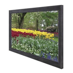 Elite Screens - 110IN DIAG  PROJECTION SCREEN EZFRAME SERIES WALL - CINE WHT 16:9 54X96IN BLK VELOUR FX This item cannot ship to APO/FPO addresses.