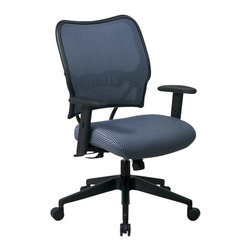 "Office Star - Office Star Space 40"" Deluxe VeraFlex Office Chair with Fabric Seat (Blue Mist) - Office Star - Office Chairs - 13V77N1WA - If you are looking for the ultimate comfort in an office chair the Space Deluxe Chair with VeraFlex Back and VeraFlex Fabric Seat is the one for you. in a chic blue mist color the Space Deluxe Chair Features: a breathable VeraFlex back and plenty of adjustment options to personalize this luxurious chair."