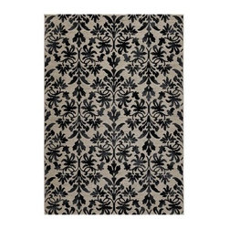 Couristan Everest Retro Damask Rug - With its classic damask pattern in modern grey, black, and silver color palette, the Couristan Everest Retro Damask Rug has a look that creates distinctive style in your space. As handsome as it is durable and soft, this rug is loom-carved with a multi-point weaving technique of plush, polypropylene and comes in a wide variety of size options.About Couristan RugsFor 80 years, Couristan, Inc. has been a powerful name in the area rug and broadloom industry. Owned by the Couri family for two generations and operated today by brothers, the company prides itself on having the most exquisite handmade and power-loomed floor-coverings available from anywhere around the world. Founded in 1926 by two brothers and appropriately named Couri Brothers, the company began its humble beginnings by importing fine handmade area rugs from Persia. The first area rugs imported by the company were a few shipments of Sparta Rugs from Smyrna. At the time, the company began affixing Couristan trademark labels to the back of each and every rug it imported. The company would quickly begin to broaden its horizons, as well as its area rug offerings, by importing rugs from India in 1927. In the 1930s, Couristan began importing handmade hooked rugs from China and braided rugs from Japan.