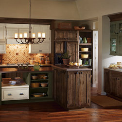 Rustic Kitchen Cabinets - Decora Cabinetry -
