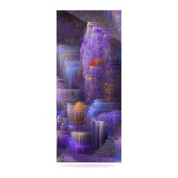 "Kess InHouse - Michael Sussna ""Purple Mountain Majesty"" Purple Metal Luxe Panel (9"" x 21"") - Our luxe KESS InHouse art panels are the perfect addition to your super fab living room, dining room, bedroom or bathroom. Heck, we have customers that have them in their sunrooms. These items are the art equivalent to flat screens. They offer a bright splash of color in a sleek and elegant way. They are available in square and rectangle sizes. Comes with a shadow mount for an even sleeker finish. By infusing the dyes of the artwork directly onto specially coated metal panels, the artwork is extremely durable and will showcase the exceptional detail. Use them together to make large art installations or showcase them individually. Our KESS InHouse Art Panels will jump off your walls. We can't wait to see what our interior design savvy clients will come up with next."