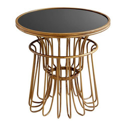 Cyan Design - Cyan Design Manhattan Table, Gold - -Gold Finish