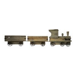 Decorative Wooden Train - A charming display for around your tree at the holidays or use anywhere in your home with bottles of wine, firewood or fresh potpourri! Our wooden train uses are endless. What other ways can you put it to good use?