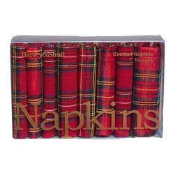 Tartan Cocktail Napkins - Make every toast count with holiday-appropriate plaid napkins that are almost too pretty to use.