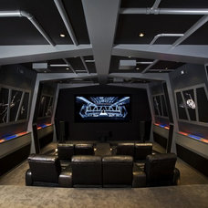 Contemporary Home Theater by Orren Pickell Building Group