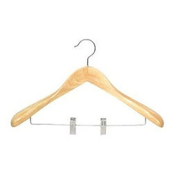 Proman Products - Taurus Suit Hanger w Clips - Set of 12 - Set of 12. Suitable for suits