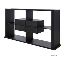 Annike Shelving Unit, Ebony Oak