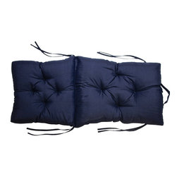 US Bedding - Navy Blue Diamond Tufted Club Chair Cushion (Portable w/Storage Handle) - All cushions are designed to fit most sizes of patio furniture and are filled with eco-friendly quick drying polyester fiber fill. Proudly Manufactured in the USA.