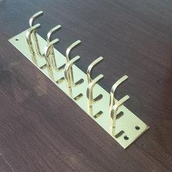"Modern Hook Double Row Bar - 2"" Wide - Modern Hook Double Row Bar - 2"" Wide :"