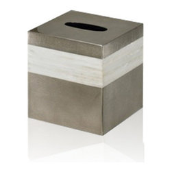 Belle & June - Mother of Pearl Espresso Boutique Tissue Holder - Achoo! As you reach for the tissue that's stored oh-so-elegantly under your mother of pearl and espresso finished tissue holder, pinch yourself. This is nothing to sneeze at.