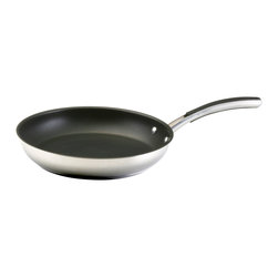 Farberware - Farberware Stainless Steel 12-inch Skillet, Stainless Steel - The skillet is one of the most used pans in any well-equipped kitchen. Skillets have sloped sides so that foods slide out easily. This popular size is ideal for cooking omelets, pancakes, quesadillas, sauteing vegetables, searing steaks, fish and poultry.