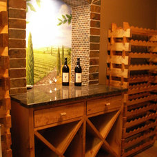 Eclectic Wine Racks by Designed Cabinets