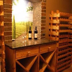Custom Cabinets - Custom Alder Wine Cellar