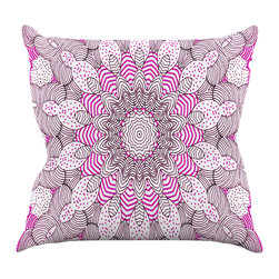 """Kess InHouse - Monika Strigel """"Dots and Stripes Pink"""" Throw Pillow (16"""" x 16"""") - Rest among the art you love. Transform your hang out room into a hip gallery, that's also comfortable. With this pillow you can create an environment that reflects your unique style. It's amazing what a throw pillow can do to complete a room. (Kess InHouse is not responsible for pillow fighting that may occur as the result of creative stimulation)."""