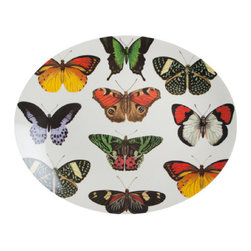 "Oval Butterfly Tray - 14""x 12"" – Melamine platter, Thomas Paul Design."