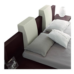 Rossetto - Rossetto Win Headboard Pillow in White (Set of 2) - Rossetto - Pillows - T26669B002N01 - Style comfort and design integrated into one. The upholstered leather effect will further enhance the Win Float platform bed (sold separately).