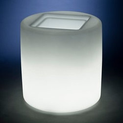 Rotoluxe - Rotoluxe | Rotoluxe™ Chubbie Planter - Indoor Use - Made in the U.S.A. from recycled materials.The Chubbie Planter by Rotoluxe™ has a simple, round silhouette ideal for large plants and is available with a light for an ambient glow. Suitable for a variety of settings, alone or in multiples, in public or private spaces.Indoor planters that are specified with a light will include a cord with a hand switch. Please select color and light options. (Note: Grey and Black are not available with a light.) Indoor planters do not have a drain. Impact and UV resistant. 10 year warranty. Also available for outdoor use.