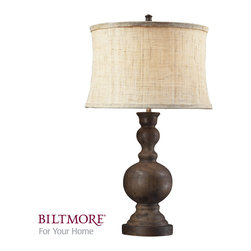 Dimond Lighting - Dimond Lighting D2240 Arden 1 Light Table Lamps in Dark Oak - Arden Dark Oak Table Lamp With A Natural Hand Woven Linen Shade And Cream Liner