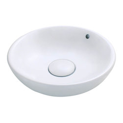 """MR Direct - MR Direct V340-W White Porcelain Vessel Sink - The V340-White porcelain vessel sink offers a unique, modern look for any bathroom. It is made from true vitreous China, which is triple glazed and triple fired to ensure your sink is durable and strong. Because this sink is a vessel, no mounting hardware is needed. The overall dimensions for the V340-White are 19 5/8"""" x 19 5/8"""" x 5 7/8"""" and a 21"""" minimum cabinet size is required. Vessel sinks require a special spring-loaded pop-up drain, which we offer in a variety of finishes to fit your decor. As always, our porcelain sinks are covered under a limited lifetime warranty for as long as you own the sink."""