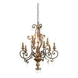 Quoizel - Quoizel MQ5009HL Marquette Traditional Chandelier - With a subtle smattering of multifaceted crystal drops, this refined design is worthy of a French parlor, and nearly as romantic as Paris itself. The beautiful heirloom finish, is a rich bronze with antique silver highlights.
