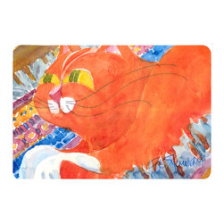 Caroline's Treasures - Cat Kitchen Or Bath Mat 24X36 - Kitchen or Bath COMFORT FLOOR MAT This mat is 24 inch by 36 inch.  Comfort Mat / Carpet / Rug that is Made and Printed in the USA. A foam cushion is attached to the bottom of the mat for comfort when standing. The mat has been permenantly dyed for moderate traffic. Durable and fade resistant. The back of the mat is rubber backed to keep the mat from slipping on a smooth floor. Use pressure and water from garden hose or power washer to clean the mat.  Vacuuming only with the hard wood floor setting, as to not pull up the knap of the felt.   Avoid soap or cleaner that produces suds when cleaning.  It will be difficult to get the suds out of the mat.