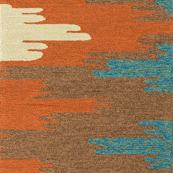 Jaipur Rugs - Abstract Pattern Red /Orange Indoor/ Outdoor Rug - CO06, 2.6x8 - Bring visual pop to outdoor living with the Colours I-O Collection. This energetic range of stripe, zigzag and stair-step designs bring together a myriad of multicolor palettes all in durable, hand-hooked polypropylene construction. With its fashion-forward styles and bold scale, each design can function in a broad range of contemporary and transitional spaces both indoor and out.