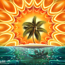 Murals Your Way - Sundala Tropic Wall Art - Painted by Al  McWhite, the Sundala Tropic wall mural from Murals Your Way will add a distinctive touch to any room