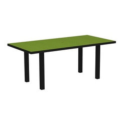 POLYWOOD® Euro 36 x 72 in. Dining Table with Aluminum Frame