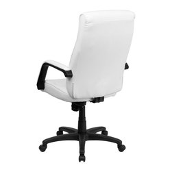 Flash Furniture - Flash Furniture Office Chairs Leather Executive Swivels X-GG-HW-H33009-TB - Feel the difference immediately in this Executive Office Chair that features Memory Foam Padding! The plush padding provides instant comfort to help you get through your work day. This chair also features a locking tilt control, pneumatic seat lift and a sturdy nylon base. [BT-90033H-WH-GG]