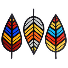 Contemporary Stained Glass Panels by Etsy