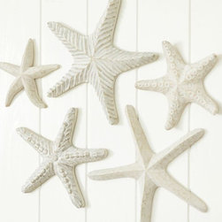 Carved Wood Starfish - Starfish are a traditional seaside decor item, and these would be great on the wall or propped on a shelf.
