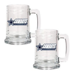 Great American NFL 15 oz. Glass Tankard Set - About Great American ProductsWith beginnings as a belt buckle maker in Texas, Great American products has become the leader in licensed metal emblems and the products that they adorn. With licenses with every major sports league, Great American products a wide range of unique products like drinkware, coolers, and kitchen accessories for the dedicated fan.