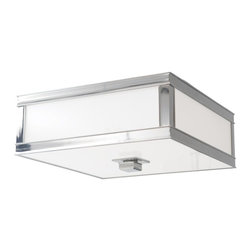 Hudson Valley - 4216-HN Preston Flush Mount, Historic Nickel, Clear Frosted Glass - Transitional Flush Mount in Historic Nickel with Clear Frosted glass from the Preston Collection by Hudson Valley.