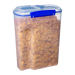 Sistema - 142-Oz. Cereal Container - This cereal container features easy-open locking clips with rubberized seals that ensure meals and ingredients stay fresh. BPA- and lead-free, it keeps food safe, while a unique stackable style makes storage simple.   Includes container and lid 8.5'' W x 11.25'' H x 4.5'' D Holds 142 oz. Virgin polypropylene / thermoplastic elastomer Lead- and BPA-free Freezer-, microwave- and dishwasher-safe Made in New Zealand